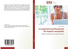 Buchcover von Le jugement professionnel de l'expert comptable