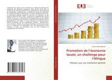 Buchcover von Promotion de l'économie locale, un challenge pour l'Afrique