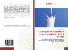 Capa do livro de Techniques de préparation et de conservation du lait de Soja