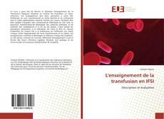 Обложка L'enseignement de la transfusion en IFSI