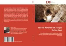 Couverture de Fouille de textes et analyse thématique