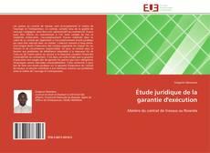 Étude juridique de la garantie d'exécution kitap kapağı