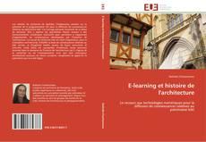 Couverture de E-learning et histoire de l'architecture