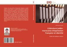 Couverture de Littérature judéo-marocaine d'expression française et identité