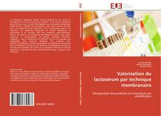 Valorisation du lactosérum par technique membranaire kitap kapağı