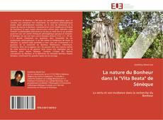 """Portada del libro de La nature du Bonheur dans la """"Vita Beata"""" de Sénèque"""
