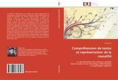 Bookcover of Compréhension de textes et représentation de la causalité