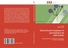 Couverture de Diversité phenotypique et genotypique de salmonelles