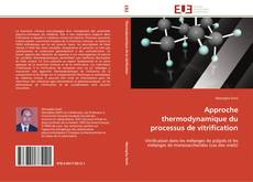 Bookcover of Approche thermodynamique du processus de vitrification