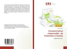 Bookcover of Consommation responsable : de l'intention à l'action