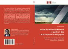 Bookcover of Droit de l'environnement et gestion des catastrophes écologiques