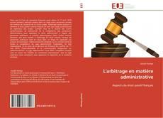 Buchcover von L'arbitrage en matière administrative