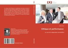 Bookcover of Ethique et performance