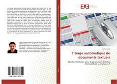 Couverture de Titrage automatique de documents textuels