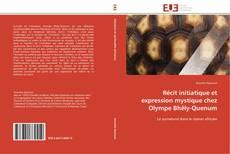 Capa do livro de Récit initiatique et expression mystique chez Olympe Bhêly-Quenum