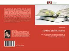 Couverture de Syntaxe et sémantique