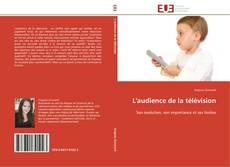 Обложка L'audience de la télévision