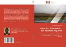 Buchcover von La question de l'exécution des décisions de justice