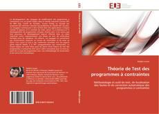 Couverture de Théorie de Test des programmes à contraintes