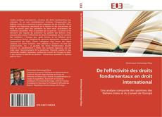 Couverture de De l'effectivité des droits fondamentaux en droit international