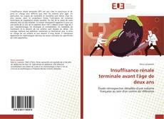 Bookcover of Insuffisance rénale terminale avant l'âge de deux ans