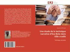 Portada del libro de Une étude de la technique narrative d'Eza Boto dans Ville cruelle