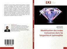 Capa do livro de Modélisation des ondes transverses dans les langasites et isomorphes
