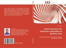 Bookcover of Environnement des industries culturelles au Burkina Faso