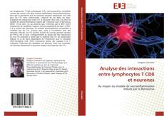 Обложка Analyse des interactions entre lymphocytes T CD8 et neurones