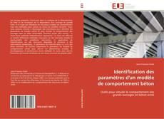 Обложка Identification des paramètres d'un modèle de comportement béton
