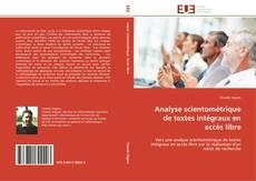 Couverture de Analyse scientométrique de textes intégraux en accès libre