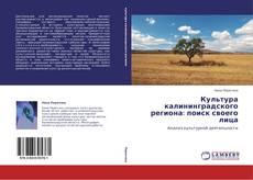 Buchcover von Культура калининградского региона: поиск своего лица