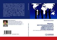 Bookcover of Фирмы, институциональные ограничения и эффективность хозяйствования