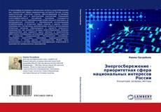 Buchcover von Энергосбережение - приоритетная сфера национальных интересов России
