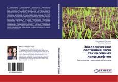 Borítókép a  Экологическое состояние почв техногенных ландшафтов - hoz