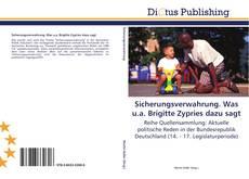Bookcover of Sicherungsverwahrung. Was u.a. Brigitte Zypries dazu sagt