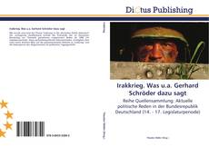 Bookcover of Irakkrieg. Was u.a. Gerhard Schröder dazu sagt