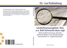 Bookcover of Länderfinanzausgleich. Was u.a. Rolf Schwanitz dazu sagt