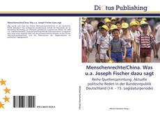 Bookcover of Menschenrechte/China. Was u.a. Joseph Fischer dazu sagt