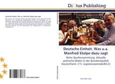 Bookcover of Deutsche Einheit. Was u.a. Manfred Stolpe dazu sagt