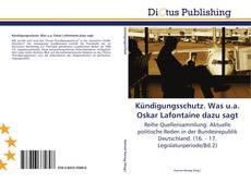 Bookcover of Kündigungsschutz. Was u.a. Oskar Lafontaine dazu sagt