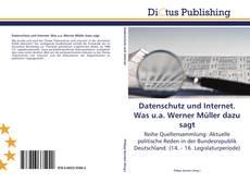 Bookcover of Datenschutz und Internet. Was u.a. Werner Müller dazu sagt