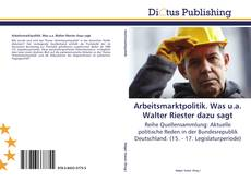 Capa do livro de Arbeitsmarktpolitik. Was u.a. Walter Riester dazu sagt