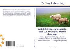 Bookcover of Antidiskriminierungsgesetz. Was u.a. Dr.Angela Merkel dazu sagt