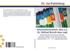 Borítókép a  Informationsfreiheit. Was u.a. Dr. Michael Bürsch dazu sagt - hoz