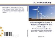 Capa do livro de Entwicklungshilfe. Was u.a. Heidemarie Wieczorek-Zeul dazu sagt