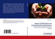 Bookcover of Impact of HR factors on environmental performance