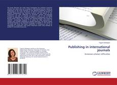 Bookcover of Publishing in international journals