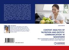 Copertina di CONTENT ANALYSIS OF 'NUTRITION AND DIETETIC COMMUNICATION'' IN NEWSPAPER
