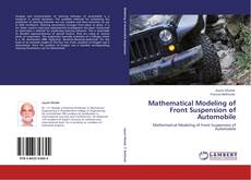 Buchcover von Mathematical Modeling of Front Suspension of Automobile